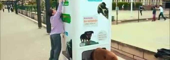 Brilliant: Vending Machine Feeds Stray Dogs in Exchange for Recycled Bottles