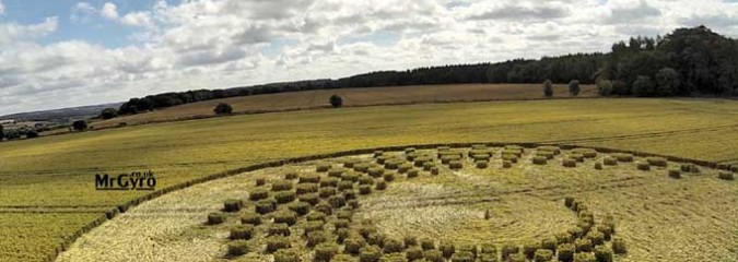 Amazing Crop Circle at Forest Hill nr Marlborough, Wiltshire UK, Reported July 16, 2014