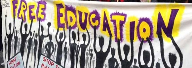 Offering Model for World, Students in the UK March for 'Free Education'
