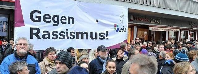 35,000 Rally Against Racism and Xenophobia in Dresden in Germany