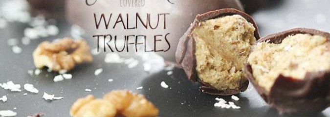 Raw Chocolate Covered Walnut Truffles – With Excellent Omega 3 Health Benefits