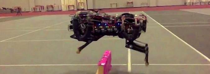 Look How Far Robotics Has Come: Cheetah Robot Adjusts to Jump Over Obstacles