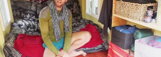 Is this the Tiniest Tiny Home Ever? Man Lives Rent Free in Cozy $950 Dwelling