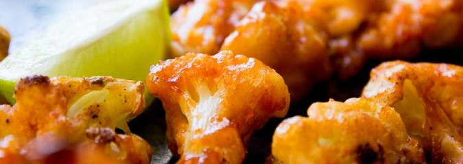 Sticky Peanut Cauliflower Wings [Vegan, Gluten-Free]