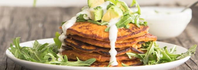 Easy & Delicious Recipe: Sweet & Savory Sweet Potato Pancakes With Breakfast Greens (Coconut Flour)
