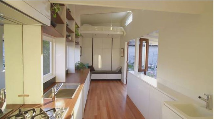 Check Out This Tiny Home With A Sleek Modern Look And Retractable Bed Conscious Life News