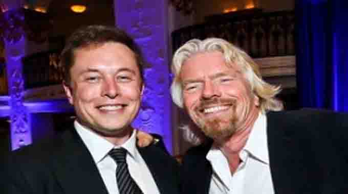 Image result for MUSK AND branson