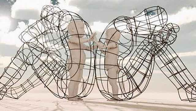 incredible burning man sculpture is a lesson in love compassion